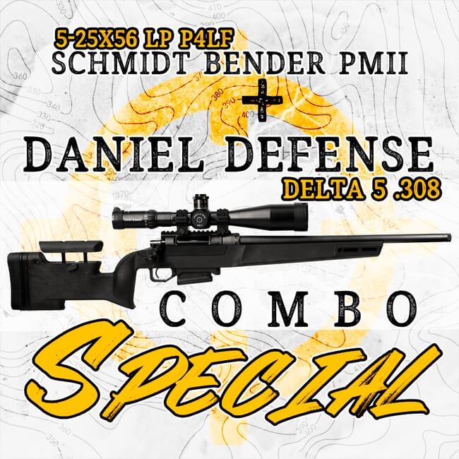 Daniel Defense DELTA 5 .308 Win Rifle & Schmidt Bender 5-25x56 PM II LP P4LF Scope Package 677-911-972-90-68-42-159-07265-DD-kit