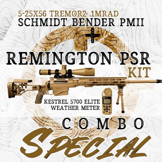 Remington PSR & Limited Edition Schmidt Bender PMII 5-25x56 PSR Scope with TReMoR2 Reticle Reticle Kit Rem-86642-SB-877-946-522-B2-B6B20-kit
