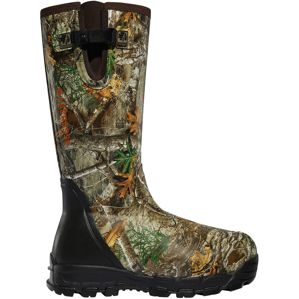 """Lacrosse Alphaburly Pro Side-Zip 18"""" Size 6 Realtree Edge 1000g Insulated Hunting Boots 376030-06"""