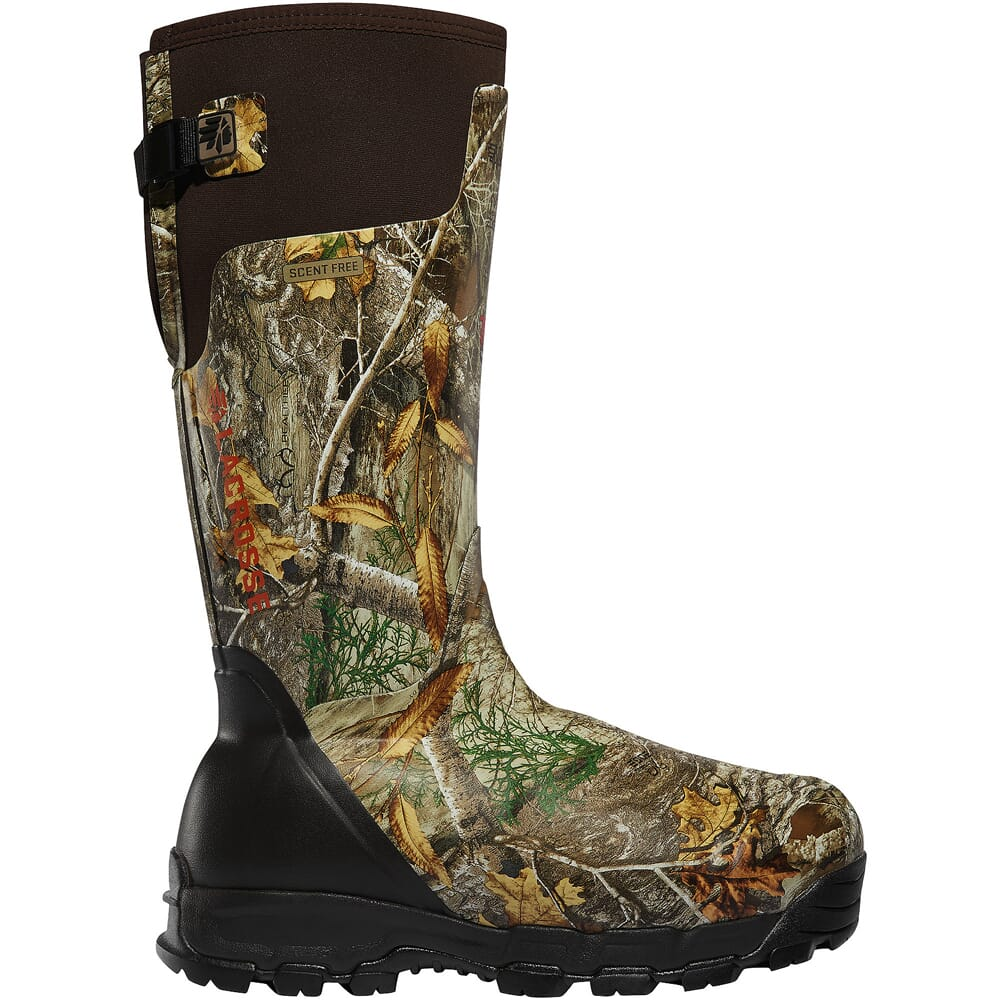 """Lacrosse Alphaburly Pro 18"""" Size 6 Realtree Edge 1600g Insulated Hunting Boots 376032-06"""