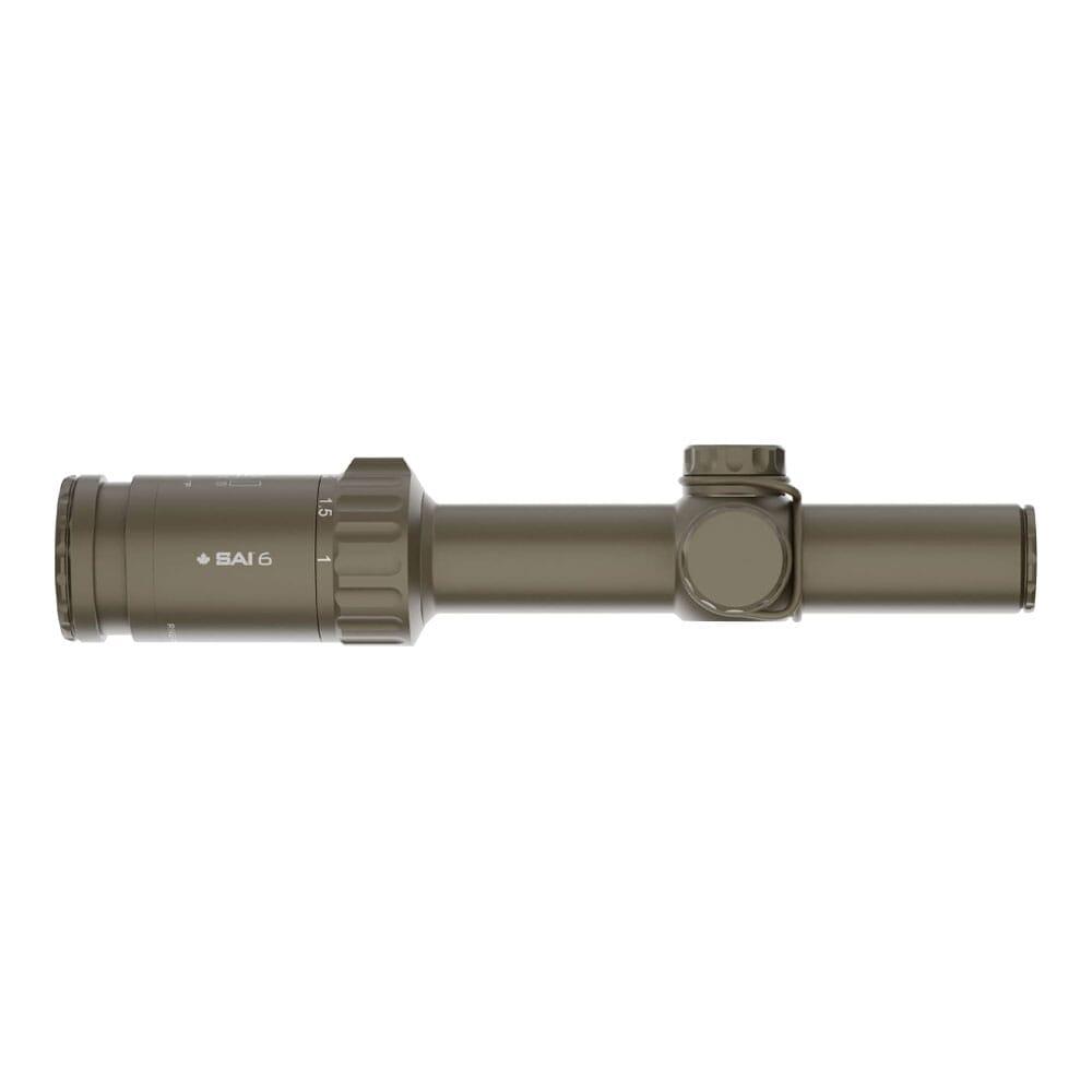 SAI Optics SAI 6 1-6x24mm .1 MRAD FFP Rapid Aiming Feature Riflescope RNG16-T170-C10