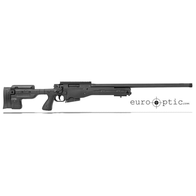 "Accuracy International AT Black Rifle 6.5 Creedmoor Fixed Stock 24"" Threaded 5/8""-24"