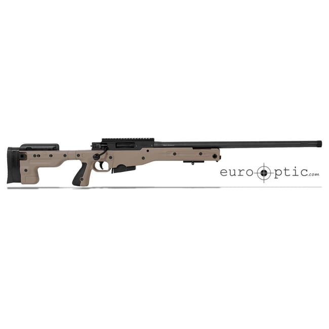 "Accuracy International AT .308 24"" Threaded Fixed Stock Pale Brown Rifle 27719PB24IN"