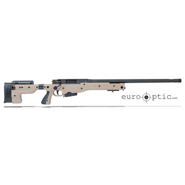 "Accuracy International AT .308 24"" Threaded Folding Stock Pale Brown Rifle 27718PB24IN"