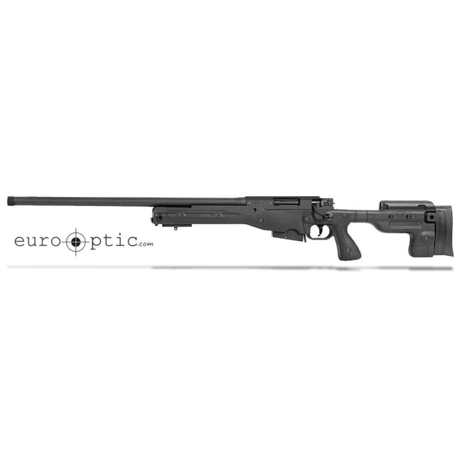 "Accuracy International AT 6.5 Creedmoor 24"" 5/8""-24 Threaded Fixed LH Stock Black Rifle ATLHFI6524BL"
