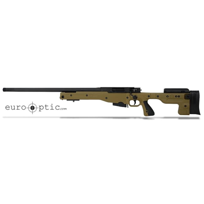 "Accuracy International AT 6.5 Creedmoor 24"" 5/8""-24 Threaded Fixed LH Stock Dark Earth Rifle ATLHFI6524DE"