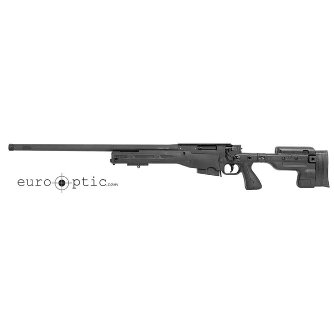 "Accuracy International AT 6.5 Creedmoor 24"" 5/8""-24 Threaded Folding LH Stock Black Rifle ATLHFO6524BL"