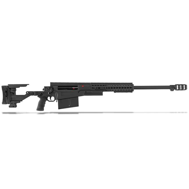 "Accuracy International AX50 ELR Folding Rifle Black .50 BMG 27"" M24x1 Triple Port Brake 16"" Forend Tube 29030BL"