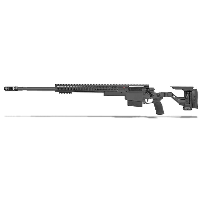 "Accuracy International AXSR Folding Left Hand Rifle .300 Norma Mag Black 27"" 3/4""-24 w/Brake SR30N27MLHBL"