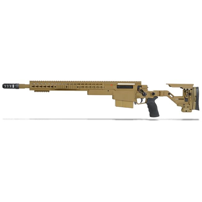 "Accuracy International AXSR Folding Left Hand Rifle .338 Lapua Mag Dark Earth 20"" 3/4""-24 w/Brake SR38L20MLHDE"
