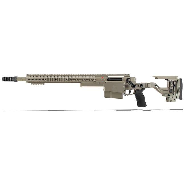 "Accuracy International AXSR Folding Left Hand Rifle .300 Win Mag Elite Sand 20"" 3/4""-24 w/Brake SR30W20MLHES"
