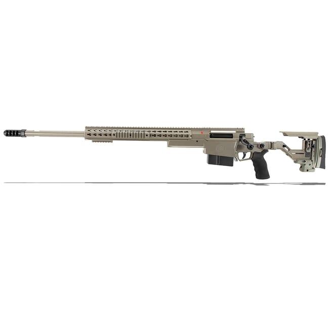 "Accuracy International AXSR Folding Left Hand Rifle .300 Norma Mag Elite Sand 27"" 3/4""-24 w/Brake SR30N27MLHES"