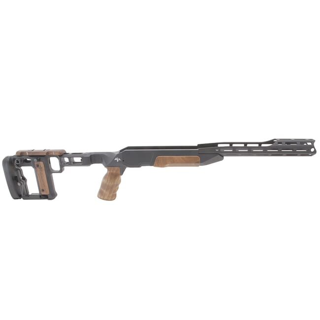 AKILA Chassis System Suitable for Blaser R8 Bolt Action Rifle w/Walnut Fittings Fixed RH w/AKILA Adj. Buttstock 102ACSR8FXRHWW