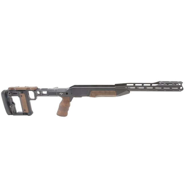 AKILA Chassis System Suitable for Blaser R8 Bolt Action Rifle w/Walnut Fittings, Folding Left RH/LH w/AKILA Adj. Buttstock 101ACSR8WWFL