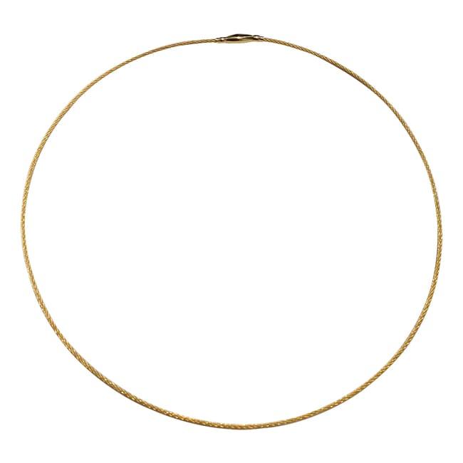 "Alex Sepkus 18K 18"" Cable Necklace with Crocodile Clasp"