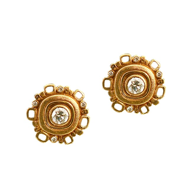 Alex Sepkus 18k and Diamond Earrings E-85D