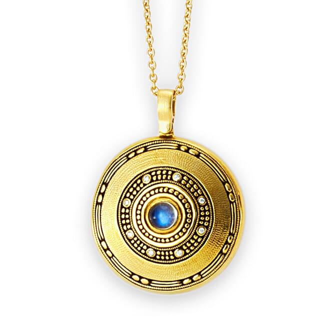 "Alex Sepkus 18K and Diamond ""Circle"" Pendant M-78D19"