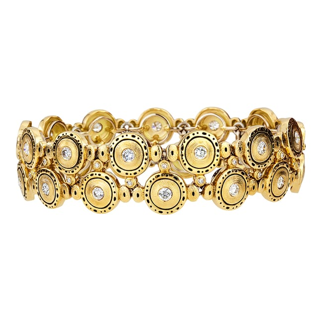 "Alex Sepkus 18K and Diamond ""Pinpoint"" Bracelet"