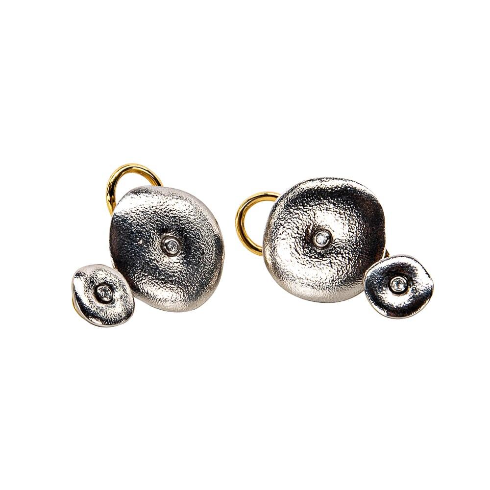 "Alex Sepkus 18k and Diamond ""Orchard"" Earrings with 4 Diamonds (0.04ct) E-99P"