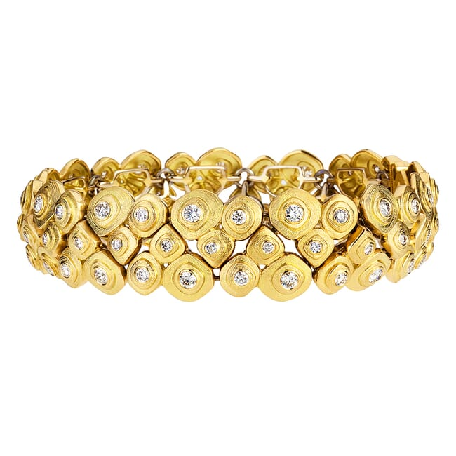 "Alex Sepkus 18K and Diamond ""Pebble"" Bracelet"