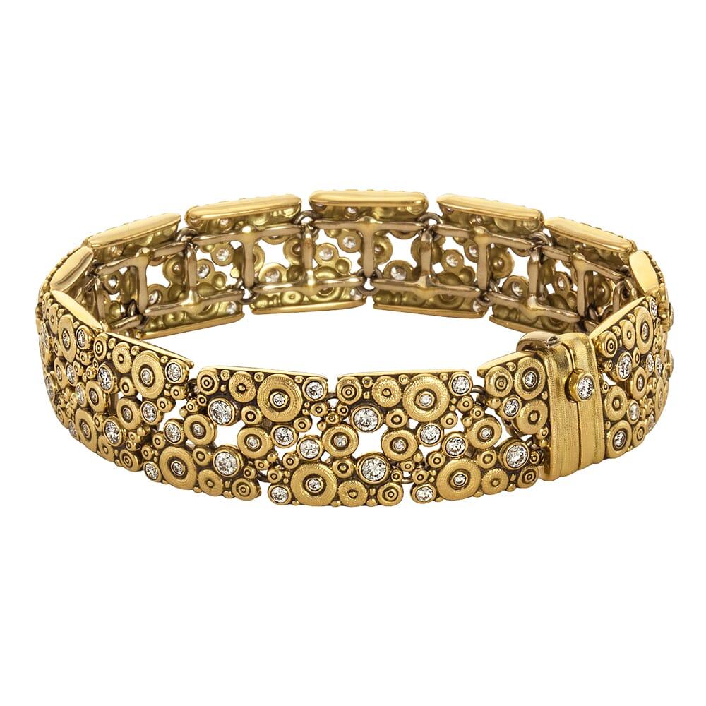 "Alex Sepkus 18K and Diamond ""Lace"" Bracelet"