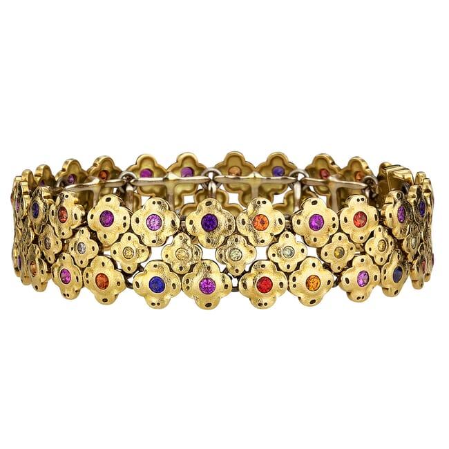 "Alex Sepkus 18K Sapphire and Diamond ""Flora"" Bracelet"