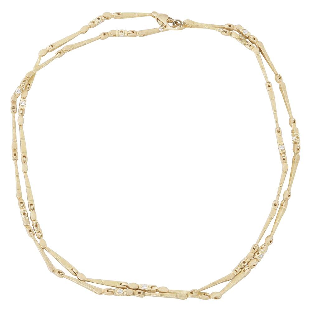 "Alex Sepkus 18K Diamond ""Sticks and Stones"" 32"" Necklace with 29 Diamonds (0.86ct) N-39D32"