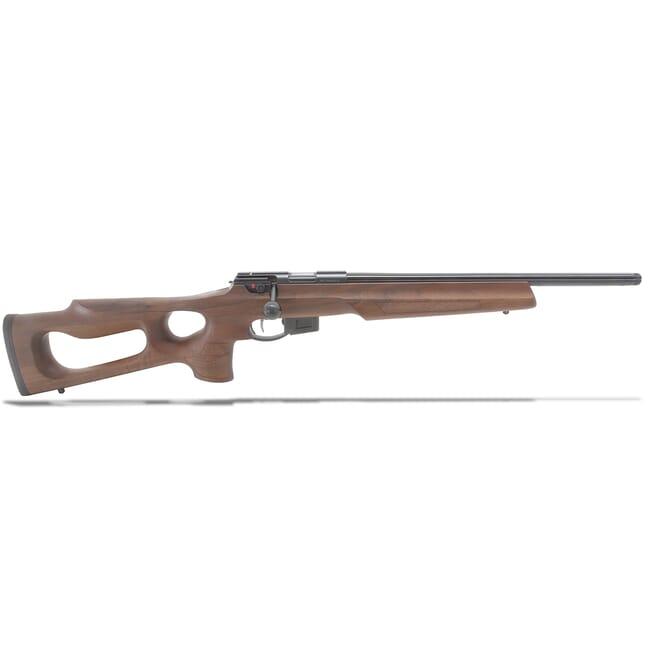 "Anschutz 1761HB .22 LR 18"" G-28 LT Walnut Thumbhole Stock Rifle A015614"