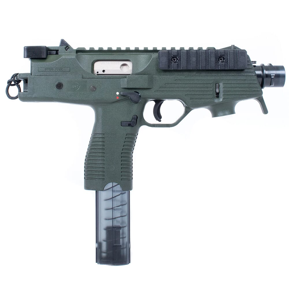 """B&T TP9-N 9mm 5"""" Bbl Semi-Auto Tactical 30rd OD Green Pistol BT-30105-N-US-OD"""