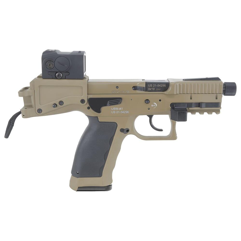 """B&T USW-A1 9mm 4.3"""" Bbl Coyote Tan 17rd Pistol BT-430003-CT"""