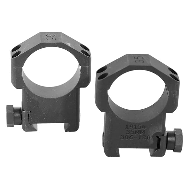 "Badger Ordnance 35mm High 1.375"" Alloy Ring Set P/N 306-130. Used. UA1755"