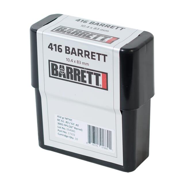 Barrett .416 Barret Ammo CEB 452 Gr MTAC Box of 80 17221