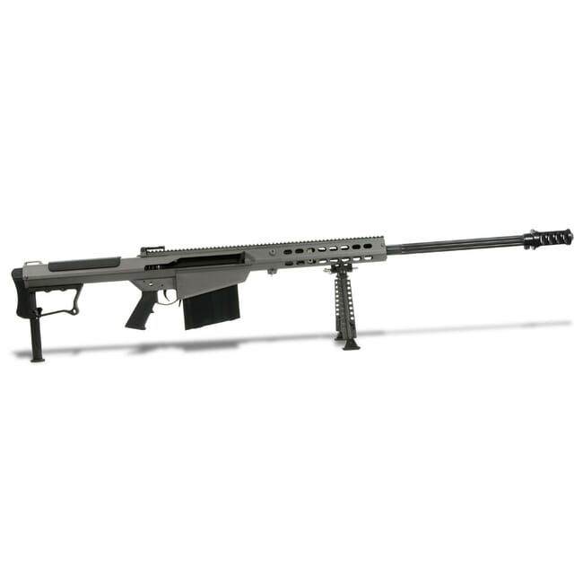 "Barrett M107A1 .50 BMG Semi-Auto Rifle System Grey Cerakote Receiver Black 29"" Fluted Barrel Showroom Demo 14553"