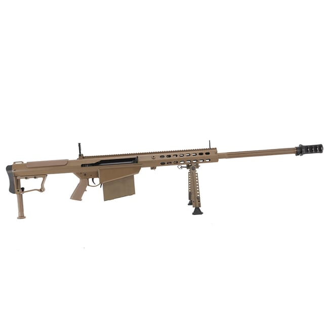 "Barrett M107 A1 50 BMG 29"" Mud Brown USED Rifle w/ (1) Mag, Bipod, Monopod, and Case 13313"