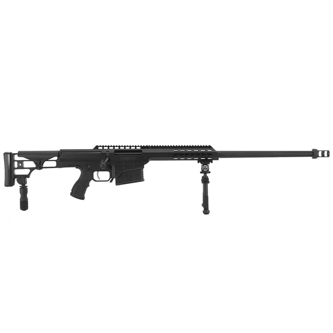 "Barrett 98B Tactical Military .338 Lapua Mag USED Rifle System - 24"" Heavy Barrel - Black Receiver 16266"