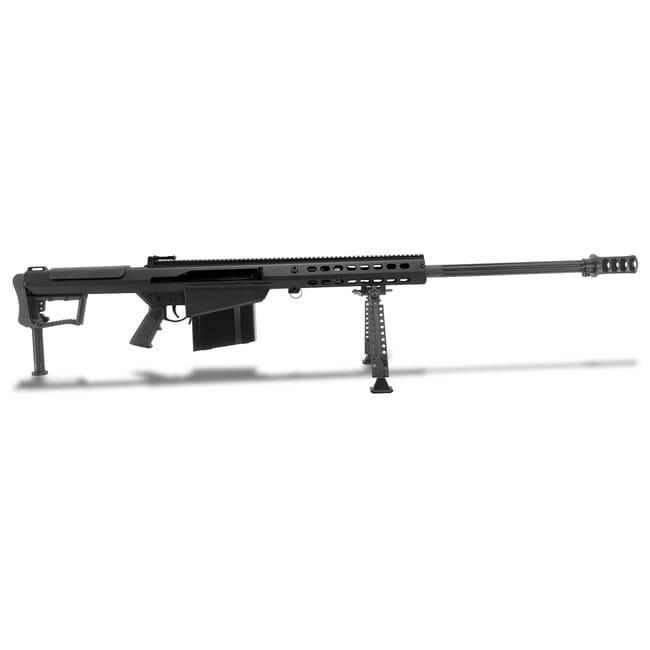 "Barrett M107A1 .50 BMG Semi-Auto Black Rifle w/ Hydraulic Buffer System and Black 29"" Fluted Bbl 18059"