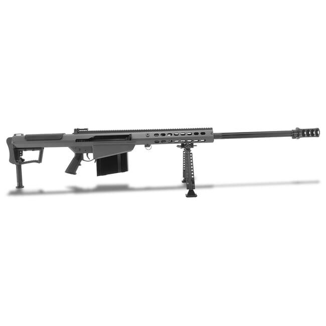 """Barrett M107A1 .50 BMG Semi-Auto Grey Rifle w/ Hydraulic Buffer System and Black 29"""" Fluted Bbl 18067"""