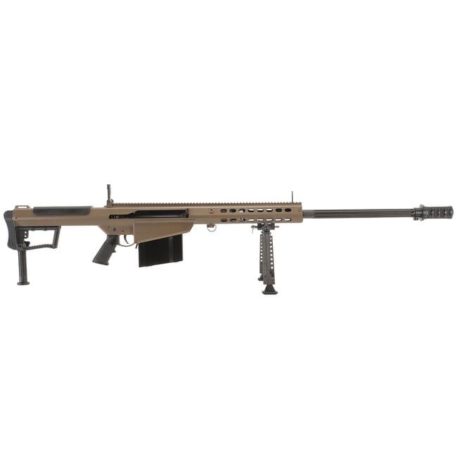 """Barrett M107A1 .50 BMG Semi-Auto FDE Rifle w/ Hydraulic Buffer System and Black 29"""" Fluted Bbl 18065"""