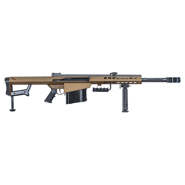 "Barrett 82A1 50 BMG Coyote Brown 20"" Fluted Bbl Rifle w/ 10Rd Magazine and Pelican Case 18860"