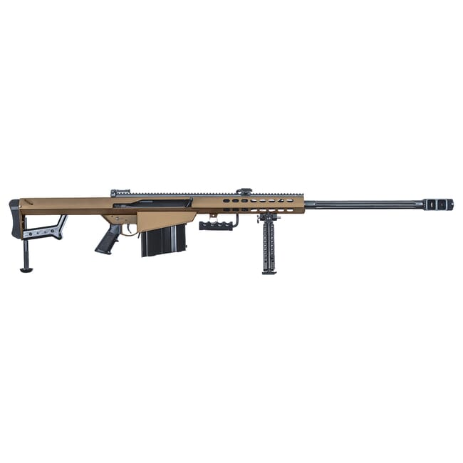 "Barrett 82A1 50 BMG Coyote Brown 29"" Fluted Bbl Rifle w/ 10Rd Magazine and Pelican Case 18858"