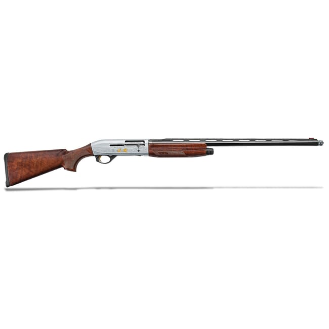 "Benelli Montefeltro Silver Featherweight 12ga 3"" 26"" Satin Walnut/Weathercoat Nickl/Blue Etched Game Scene 2+1 Semi-Auto Shotgun 10818"
