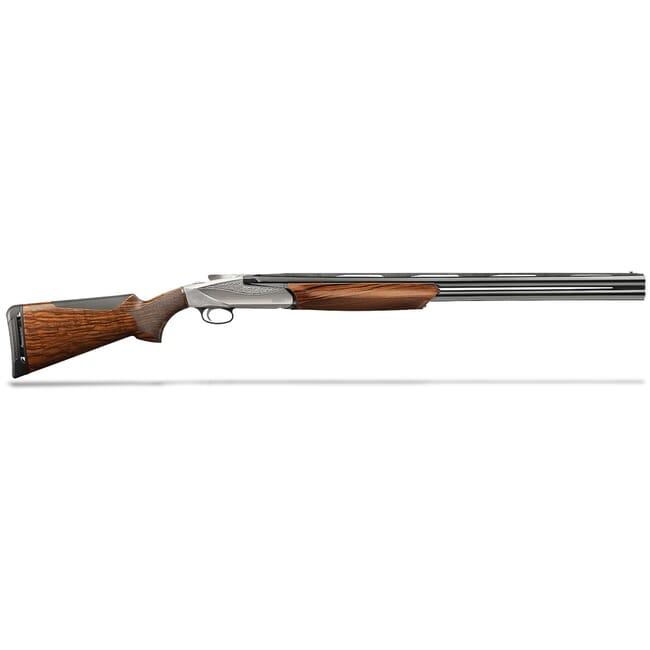 "Benelli 828U 20-ga 3"" 26"" AA-Grade Satin Walnut Engraved Nickel Receiver O/U Shotgun 10740"