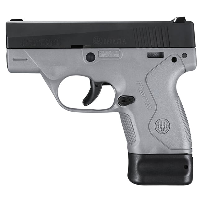Beretta BU-9 Nano Gray 9mm Single 6+8rd Mag Pistol JMN9S95