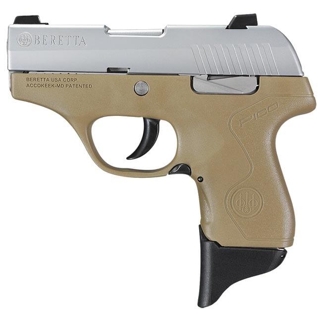 Beretta Pico Inox FDE .380 ACP DA 6rd Pistol JMP8D55