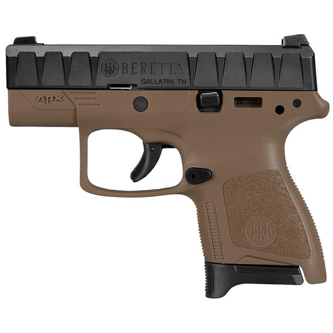 Beretta APX Carry 9mm Striker-Fired Flat Dark Earth Pistol 8Rd (1), 6Rd (1) Mags JAXN92005