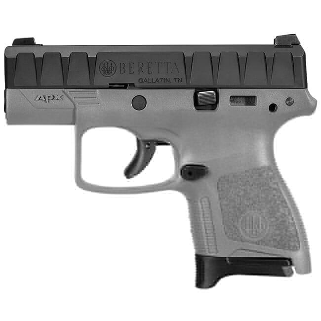 Beretta APX Carry 9mm Striker-Fired Wolf Grey Pistol 8Rd (1), 6Rd (1) Mags JAXN92006
