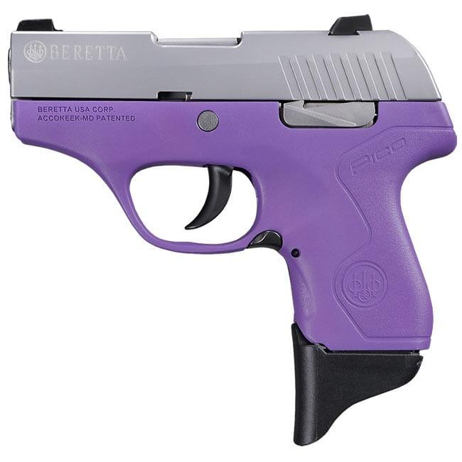 Beretta Pico Inox Lavender .380 ACP DA 6rd Pistol JMP8D85