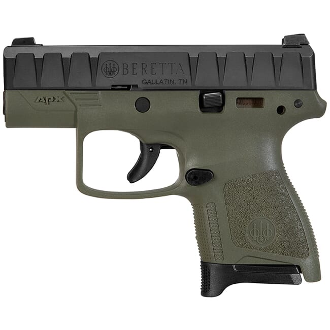 Beretta APX Carry 9mm Striker-Fired OD Green Pistol 8Rd (1), 6Rd (1) Mags JAXN92007