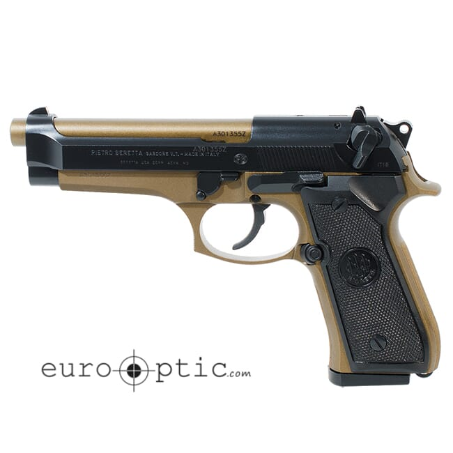 Beretta 92 FS Burnt Bronze 9mm 10rd Pistol JS92F340