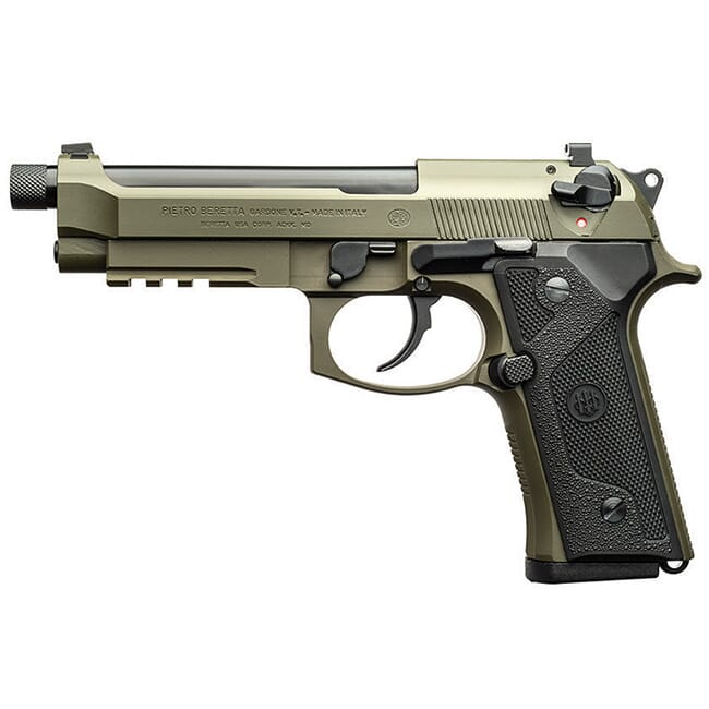 Beretta M9A3 9mm Dbl/Sngl 10rd Type F Black/Green Pistol w/ 3 mags J92M9A32